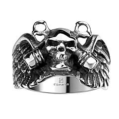 Муж. Кольцо Мода бижутерия Нержавеющая сталь Титановая сталь В форме черепа Бижутерия Назначение Halloween Повседневные Спорт