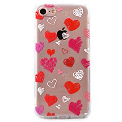 Для Прозрачный / С узором Кейс для Задняя крышка Кейс для С сердцем Твердый Акрил AppleiPhone 7 Plus / iPhone 7 / iPhone 6s Plus/6 Plus /