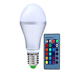 cheap LED Bulbs-250-350 lm E14 GU10 E26/E27 B22 LED Smart Bulbs A60(A19) 3 leds High Power LED Dimmable Decorative Remote-Controlled RGB AC 85-265V