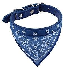Dog Collar Soft Bandanas Hands free Casual Cosplay Solid PU Leather Fabric Black Coffee Red Blue