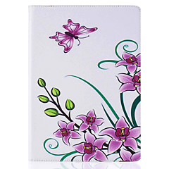 Pink Butterfly Pattern Painted PU Leather Material Card Flat Shell for  ipad Air  Air 2