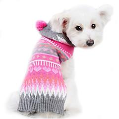 お買い得  犬用ウェア&アクセサリー-犬 セーター 犬用ウェア 縞柄 ウール コスチューム ペット用 男性用 女性用 キュート 保温