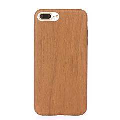 Недорогие Кейсы для iPhone-ASLING Кейс для Назначение IPhone 7 / iPhone 7 Plus / Apple iPhone 7 / iPhone 7 Plus Защита от удара / Ультратонкий Кейс на заднюю панель Имитация дерева Мягкий Кожа PU для iPhone 7 Plus / iPhone 7