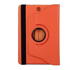 お買い得  タブレット用ケース-ケース 用途 Samsung Galaxy タブ8.0 フルボディーケース タブレットケース ソリッド ハード PUレザー のために