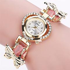 preiswerte Damenuhren-Xu™ Damen Armbanduhr Schlussverkauf PU Band Retro / Freizeit / Schmetterling Schwarz / Weiß / Blau