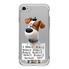 cheap iPhone Cases-Case For Apple iPhone 5 Case iPhone 6 iPhone 7 Ultra-thin Transparent Pattern Back Cover Dog Soft TPU for iPhone 7 Plus iPhone 7 iPhone