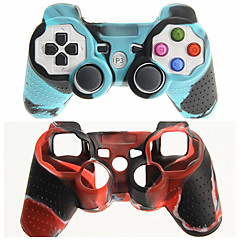 cheap PS3 Accessories-Protective Dual-Color Silicone Skin Cover Case for PS3 Controller Free Shipping