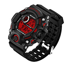 preiswerte Tolle Angebote auf Uhren-SANDA Herrn digital Japanischer Quartz Armbanduhr Smartwatch Sportuhr Chronograph Wasserdicht LED Nachts leuchtend Stopuhr Duale Zeitzonen