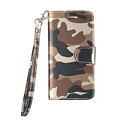 voordelige Galaxy S6 Edge Hoesjes / covers-hoesje Voor Samsung Galaxy S7 edge S7 Kaarthouder Schokbestendig Volledige behuizing Camouflage Kleur Hard PU-leer voor S7 edge S7 S6