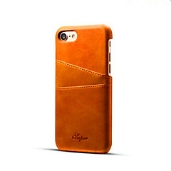 abordables Novedades-Funda Para Apple iPhone X / iPhone 8 / iPhone 8 Plus Soporte de Coche Funda Trasera Un Color Dura Cuero de PU para iPhone XS / iPhone XR / iPhone XS Max