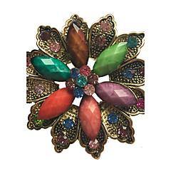 kadın moda alaşım / yapay elmas / reçine çiçek broş pin parti / günlük / gündelik eşarp klipleri takı aksesuar 1pc