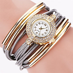 cheap Bracelet Watches-Women's Quartz Wrist Watch Bracelet Watch Rhinestone Colorful Imitation Diamond Punk PU Band Charm Sparkle Vintage Candy color Casual