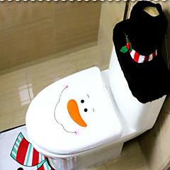 levne Zařízení domácnosti-3ks / set santa ornament sněhulák toaletní sedák kryt koberec koupelna mat set Vánoce Vánoce dekorace pro domácí