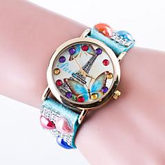 お買い得  大特価腕時計-女性用 ブレスレットウォッチ クォーツ カジュアルウォッチ / レザー バンド ハンズ カジュアル エッフェル塔 ファッション ブラック / 白 / レッド - ピンク ライトブルー カーキ色 1年間 電池寿命 / Jinli 377