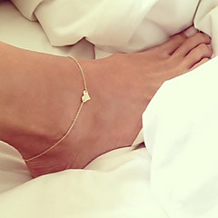 cheap Body Jewelry-Anklet - Heart, Love European Silver / Golden For Wedding Daily Women's