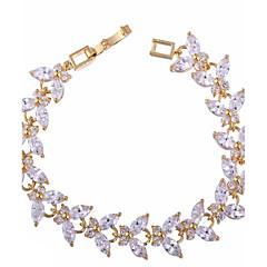 Γυναικεία Βραχιόλια με Αλυσίδα & Κούμπωμα Πολύχρωμα κοσμήματα πολυτελείας Ζιρκονίτης Cubic Zirconia Οπάλιο Λευκό Κοσμήματα ΓιαΓάμου Πάρτι