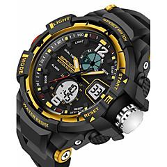 cheap -SANDA Men's Sport Watch Smartwatch Wrist Watch Digital Japanese Quartz 30 m Water Resistant / Water Proof Alarm Chronograph Silicone Band Analog-Digital Luxury Casual Fashion Black - Black Red Blue