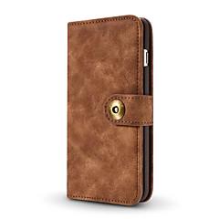 Назначение iPhone X iPhone 8 iPhone 7 iPhone 7 Plus iPhone 6 Чехлы панели Кошелек Бумажник для карт Чехол Кейс для Сплошной цвет Твердый