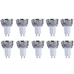 5W GU10 LED Spotlight 4 COB 500lm Warm White Cold White 3000k /6500K Dimmable AC 220-240 AC 110-130V 10pcs