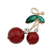 új aranyos strasszos cseresznye alakú fibulák ékszerek
