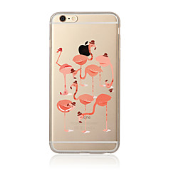 abordables Fundas para iPhone 5S / SE-Funda Para Apple iPhone X / iPhone 8 Plus / iPhone 7 Transparente / Diseños Funda Trasera Flamenco Suave TPU para iPhone X / iPhone 8 Plus / iPhone 8