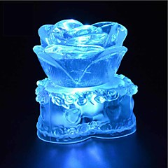 abordables Vajilla para Fiestas-1 pieza Luz de noche LED Resistente a Golpes / Impermeable Cristal / Artístico / LED