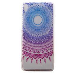 Для sony xperia xa чехол для случая синий колокольчик узор окрашенный материал для телефона tpu