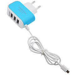 cheap -Home Charger Portable Charger Phone USB Charger EU Plug Fast Charge Multi Ports 3 USB Ports 3.1A AC 100V-240V For Cellphone
