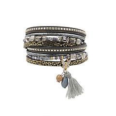 Women's Charm Bracelet Wrap Bracelet Leather Bracelet Bracelet Fashion Vintage Bohemian Personalized Handmade Luxury Costume Jewelry