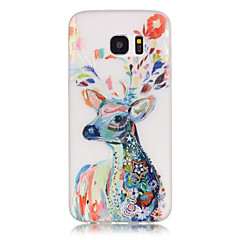 voordelige Galaxy S4 Mini Hoesjes / covers-hoesje Voor Samsung Galaxy Samsung Galaxy S7 Edge Glow in the dark Patroon Achterkant dier Zacht TPU voor S8 Plus S8 S7 edge S7 S6 edge