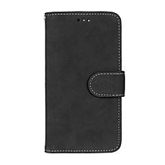 Недорогие Чехлы и кейсы для LG-Кейс для Назначение LG K8 LG LG K10 LG K7 Бумажник для карт Кошелек со стендом Флип Матовое Чехол Сплошной цвет Твердый Кожа PU для LG X