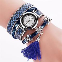お買い得  大特価腕時計-女性用 ブレスレットウォッチ クォーツ PU バンド ハンズ チャーム ボヘミアンスタイル バングル ブラック / 白 / レッド - レッド ブルー ライトブルー 1年間 電池寿命