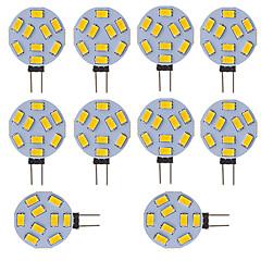 お買い得  LED 電球-10個のg4のledラウンドレンジのランプ電球15 leds 5730 smd 12v - 24v DC / AC白暖かい冷たい白
