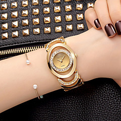 cheap Bracelet Watches-Women's Quartz Wrist Watch Bracelet Watch Skeleton Watch Rhinestone / Imitation Diamond Alloy Band Charm Sparkle Vintage Casual Dress