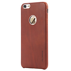 Для Защита от удара Кейс для Задняя крышка Кейс для Один цвет Твердый Натуральная кожа Apple iPhone 6s Plus/6 Plus / iPhone 6s/6