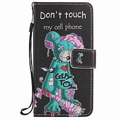 Недорогие Чехлы и кейсы для LG-Кейс для Назначение LG LG Nexus 5X LG K10 LG K7 Бумажник для карт Кошелек со стендом Чехол Мультипликация Твердый Кожа PU для LG X Power