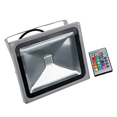 30W RGB Waterproof LED FloodLight 16 Different Color Tones with Memory Function & Remote Control For Outdoor Hotel Garden
