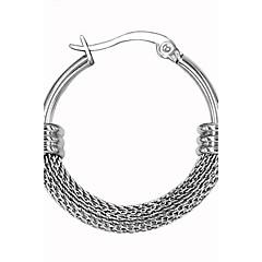 Męskie Damskie Kolczyki koła Osobiste Stal nierdzewna Circle Shape Biżuteria Na Ślub Impreza Codzienny Casual Sport
