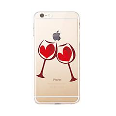 Недорогие Кейсы для iPhone 5-Кейс для Назначение Apple Кейс для iPhone 5 iPhone 6 iPhone 7 Полупрозрачный С узором Кейс на заднюю панель Мультипликация Мягкий ТПУ для