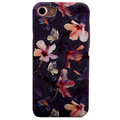 Недорогие Кейсы для iPhone-CaseMe Кейс для Назначение Apple iPhone 8 / iPhone 8 Plus / iPhone 7 С узором Кейс на заднюю панель Цветы Твердый ПК для iPhone 8 Pluss / iPhone 8 / iPhone 7 Plus