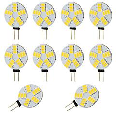 billige LED-lyspærer-10pcs 2W 360 lm G4 LED-lamper med G-sokkel T 15 leds SMD 5730 Varm hvid Kold hvid Jævnstrøm 12-24V DC 12V