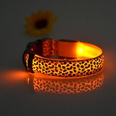Koira Kaulapannat LED valot Säädettävä / Sisäänvedettävä Ladattava Eloktroniikka/Sähköinen Leopardi Nylon