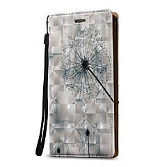Для примечания галактики Samsung 5 примечание 4 крышка случая 3d одуванчик твердая кожа pu для примечания 3