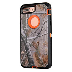 billige iPhone 6 Plus Plus-etuier-Etui Til Apple iPhone 5 etui iPhone 6 iPhone 7 Støvsikker Stødsikker Mønster Fuldt etui Camouflage Hårdt Silikone for iPhone 7 Plus