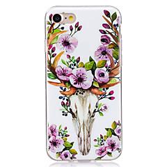 Недорогие Кейсы для iPhone 7 Plus-Кейс для Назначение Apple Кейс для iPhone 5 iPhone 6 iPhone 7 Сияние в темноте IMD Кейс на заднюю панель Животное Мягкий ТПУ для iPhone 7