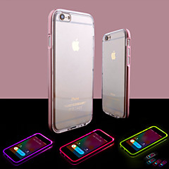 Til iPhone 8 iPhone 8 Plus iPhone 6 iPhone 6 Plus Etuier Blinkende LED-lys Transparent Bagcover Etui Helfarve Blødt TPU for iPhone 8 Plus