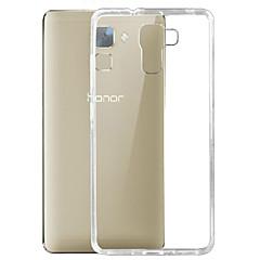 Için Huawei Kılıf Ultra İnce / Şeffaf Pouzdro Arka Kılıf Pouzdro Solid Renkli Yumuşak TPU Huawei Huawei Honor 7