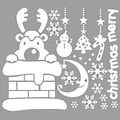 애니멀 / 크리스마스 / 워드&인용구(부호) / 로맨스 / 휴일 / 모양 벽 스티커 플레인 월스티커,vinyl 73*63cm
