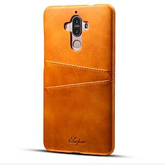 Для Бумажник для карт / Защита от удара Кейс для Задняя крышка Кейс для Один цвет Твердый Искусственная кожа для Huawei Huawei Mate 9