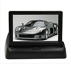 """お買い得  カーアクセサリー-4.3 """"駐車センサーカメラDVD用の液晶カーモニターDVDテレビリアビュー画面を折ります"""
